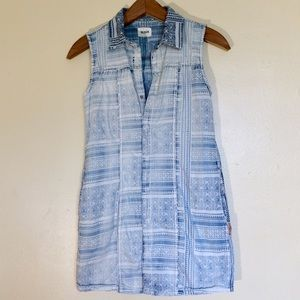 Hudson Jeans | Sleeveless Button Up Tunic Top
